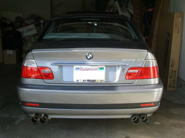 Sport Rear Exhaust For Bmw E46 325 330 Highline Tuning